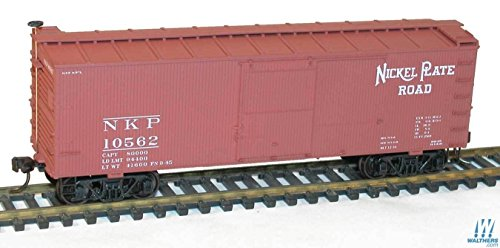 - 36' Double-Sheathed Wood Boxcar w/Steel Roof, Ends, Fishbelly Underframe - K -- Nickel Plate Road #10562 (Boxcar Red)