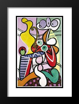 Pablo Picasso Framed and Double Matted Art Print 23x20