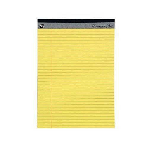 giallo ricarica Blocco di carta a righe con margine laterale da 8 mm 60 g//mq Pukka