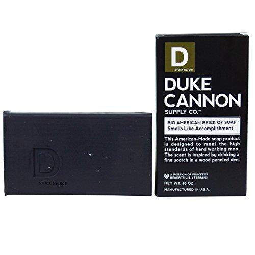 Duke Cannon Men's Soap Brick - 10oz. Big American Brick Of Soap - Smells Like Accomplishment - Early American Soap