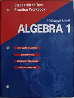 Book McDougal Littell High School Math: Standardized Test Practice Workbook (Pupil S Edition) Algebra 1