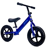 Gostorechoice Kids Balance Bike for Boys & Girls 1-5 Years Old No Pedal Learn to Ride Pre Bike W/EVA Wheels Adjustable Seat