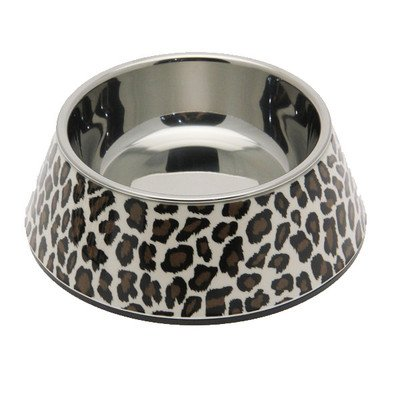 Pet Studio ZW1502 12 Safari Melamine Bowl, 6-Ounce, Leopard Brown by Pet Studio