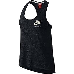 Nike Women's Gym Vintage Tank Top Black/Sail SM
