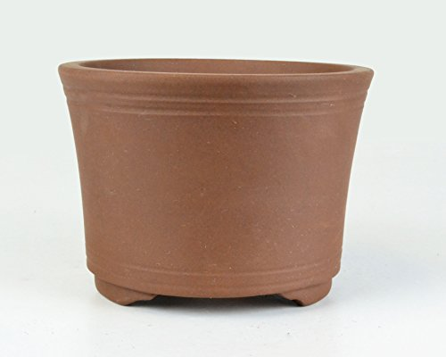 "Medium 7"" Unglazed Curve Bucket Deep Yixing Zisha Bonsai Pot (CN1-3)"