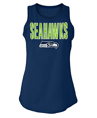 5th & Ocean Seattle Seahawks Women's Mesh Back Tank Top-Shirt (5th And Ocean Womens Shirt)