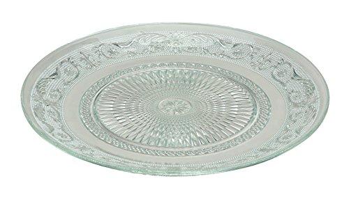 Barock Glasteller 6er Set 25cmØ - Kuchenteller - Obstteller - Servierplatte - Servierteller - Pralinenteller