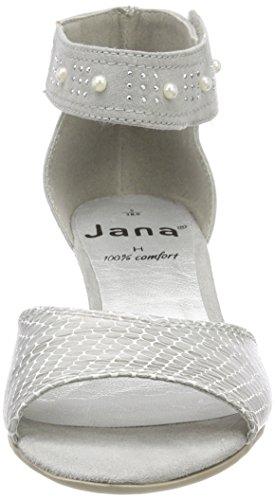 cinturino Jana Lt alla caviglia da 28311 grigio Grigio donna Sandalo 6rqwv6E