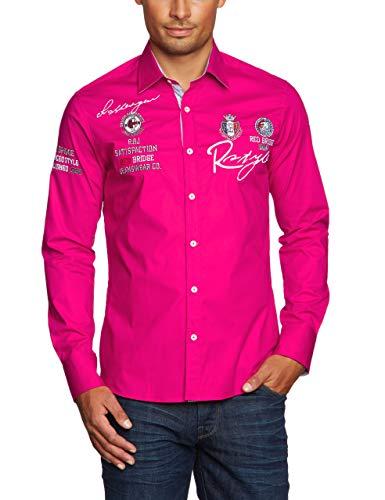 Redbridge Herren Hemd Langarm Freizeithemd Regular Fit Tailliert Bestickt R-Style R-2130