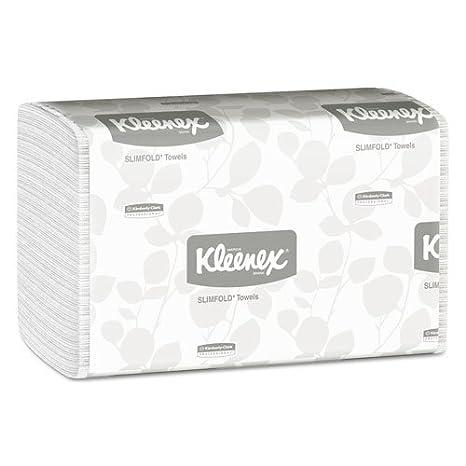 Amazon.com : KIMBERLY CLARK CONSUMER KLEENEX SLIMFOLD Hand Towels, White, 90/Pack, 24 Packs/Carton (4442) : Office Products