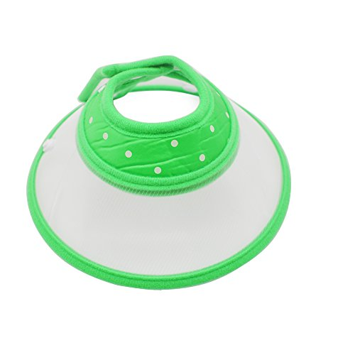 Recovery Pet Cone Collar E-Collar for Dogs Cats Kitten Puppy, ViMall Protective Adjustable Comfy Dog Cone Pet Collar Elizabethan Collars for Wound Healing-Small,Medium,Large Animal (Green, M) (Adjustable Cat Cone compare prices)