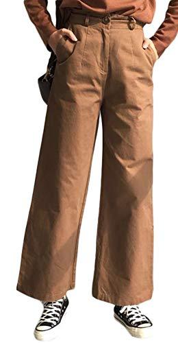 増幅する自伝ニックネームGergeousレディース カジュアルパンツ 無地 ワイドパンツ ストレートパンツ ハイウエスト 着痩せ 韓国ファッション 秋物 ロングパンツ BF風