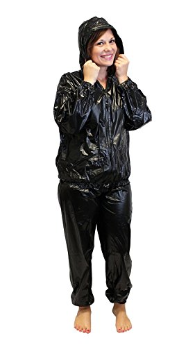 Sauna Suit (Small) - Drawstring Hood Included - Increase Body Temperature & Enhance Sweating - Lose Weight Fast - 6 Pack Abs - Slim Tone & Trim Excess Fat - Great for Running Jogging & Training by Dynamis