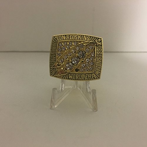 1991 Mark Rypien Washington Redskins High Quality Replica Super Bowl Xxvi Mvp Championship Ring Hail To The Redskins Gold Color Size 10 5 Us Shipping