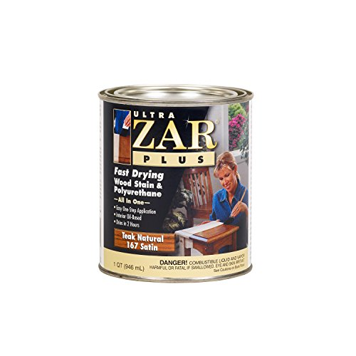 Ultra ZAR Plus 16712 Fast Drying Wood Stain, Quart - Teak Natural