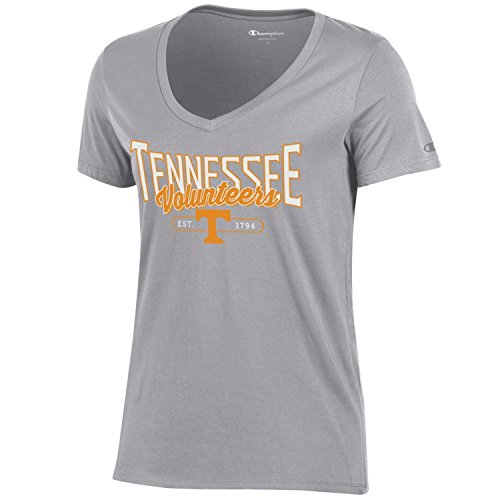 Tennessee Vols Lady T-shirts - Champion NCAA Women's University Short Sleeve Tagless Lady's V-Neck Tee, Tennessee Volunteers, Small