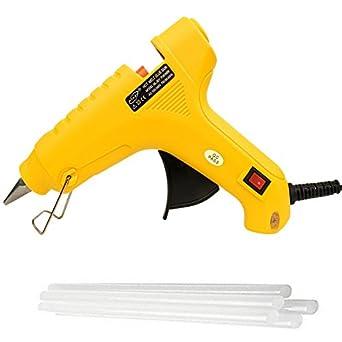 billionBAG Glue Gun 60 Watt Hot Melt Electronic Glue Gun, High Tech Heating Technology, for Art Craft/DIY/Woods/Paper/Cloth/Science Projects/School Projects (Yellow,5 Glue Gun Stick Included)