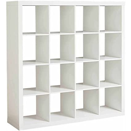 Merveilleux Modern Sixteen Square Cubbies White Closet Storage Unit With Cubes Shelves  Cabinet Shoe Organizer Space Saver