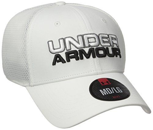 Under Armour Men's Cap Gorra de Béisbol, Hombre Blanco (White)
