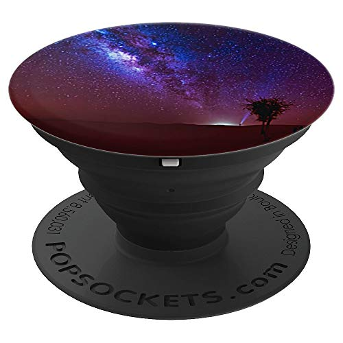Milky Way Starry Night Design Sky Observation Night Skies - PopSockets Grip and Stand for Phones and Tablets ()