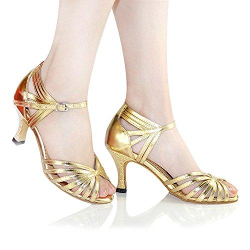 Da Sala D'oro Womens Sandalo Da Scarpe Ballo Ballo Wymname Da Alto Latino Moderna Danza Tacco Scarpe Oqg7FRa