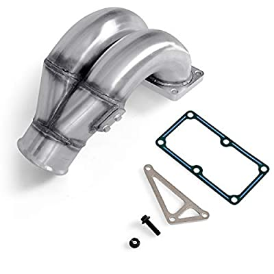 """Goplus 3.5"""" Raw Intake Manifold Stainless Steel Performance Intake Elbow Fits for 2007-2020 Dodge Ram 6.7L: Automotive"""