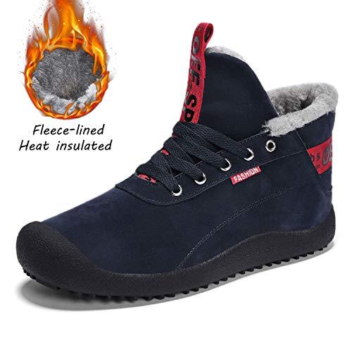 Caldo Caldo Impermeabile SITAILE SITAILE Neve All'aperto Sportive da Antiscivolo Sneakers Stringate Uomo Piatto Blu Boots Stivali Invernali 1xYqYXfw