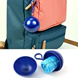 Sinwo Unisex Waterproof Disposable Portable Raincoat Jacket Waterproof Poncho Keychain (Blue)