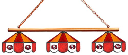 - Imperial Officially Licensed NFL Merchandise: Tiffany-Style Stained Glass Billiard/Pool Table 3 Shade Light, San Francisco 49ers