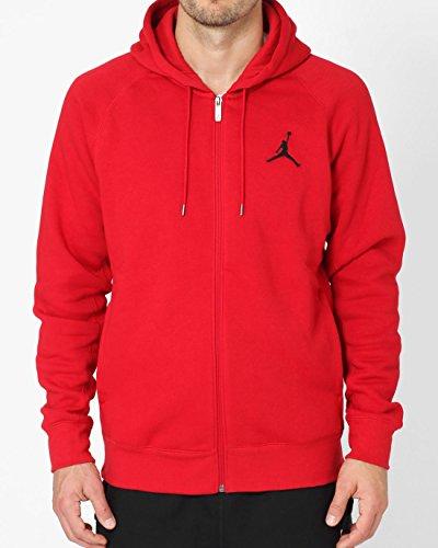 Nike Mens Jordan Jumpman Brushed FZ Hooded Sweatshirt Gym Red/Black 688995-687 Size 3X-Large