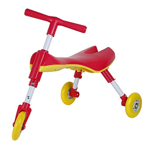Kids Trike Foldable and Lightweight Indoor and Outdoor - Non Scratch Wheels - No Setup Required - No Assembly Required-IT under CPC OF CPSIA (Bike Assembly)