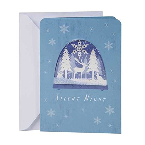 Hallmark Christmas Greeting Card (Reindeer Snow Globe) Snowglobe Christmas Cards
