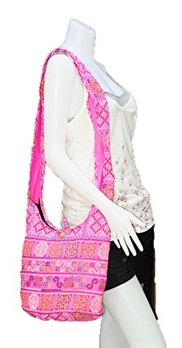 eba03945767 ... Crossbody Bag Boho M1557 Ethnic Thai Handmade Hobo Hippie Messenger  Sling Purse Shoulder Gypsy Medium Cotton