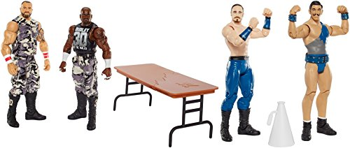 [Super Hero WWE Devon Dudley and Bubba Ray Dudley vs Aiden English and Simon Gotch Action Figures Toys, 4] (Bubba Ray Dudley Costume)