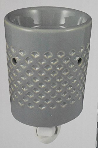Gray Ceramic Outlet Fragrance Wax Warmer by Living Color