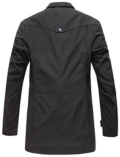 Algodón Para Botones Abrigo Negro Chaqueta Jacket Coat Otoño Primavera Hombre Pinkpum Invierno Casual qTfanUEq