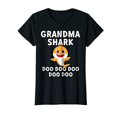 (Womens Pinkfong Grandma Shark Official T-shirt)