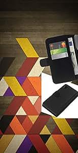 """A-type (Colores retros"""") Colorida Impresión Funda Cuero Monedero Caja Bolsa Cubierta Caja Piel Card Slots Para Sony Xperia Z2 D6502"""