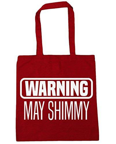 HippoWarehouse advertencia puede Shimmy Tote Compras Bolsa de playa 42cm x38cm, 10litros Classic Red