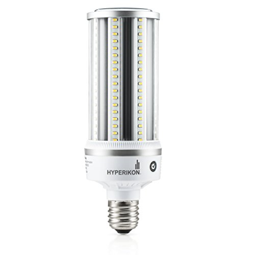 - Hyperikon LED Corn Bulb Street Light 54W (HIP/HID Replacement) 6800 Lumen, Large Mogul E39 Base, 5000K Outdoor Indoor Area Lighting, IP64 Waterproof, UL