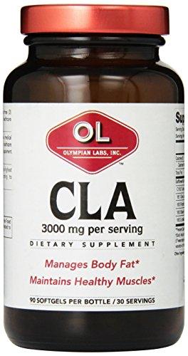 Olympian Labs CLA, 3000 mg, 90 gélules, verre