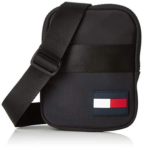 Tommy Hilfiger Compact Xover Sports Tape, Men's Top-Handle Bag, Black, 2x17x13 cm (B x H T)