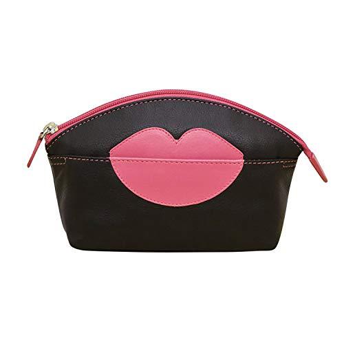 311404c23f06 Amazon.com   ili New York Hot Lips Leather Cosmetic Makeup Case (Amethyst  Hot Pink)   Beauty