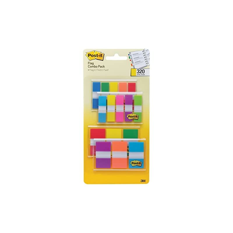 Post-it Flags Assorted Color Combo Pack,