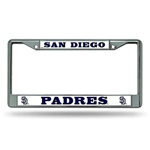 Rico San Diego Padres MLB Chrome Metal License Plate Frame
