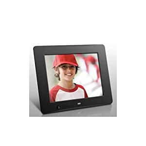 Aluratek ADMSF108F 8-Inch Digital Photo Frame with Energy Efficient Motion Sensor 4GB Built in Memory (Black), Model: ADMSF108F, Electronics & Accessories Store