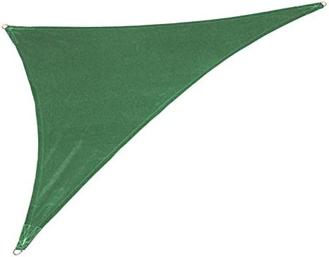 Coolaroo Coolhaven 15ft. x 12ft. x 9ft. Triangle Shade Sail Color: Heritage Green