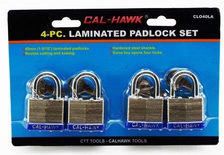 Cal Hawk Tools CLO40LA Padlock Set