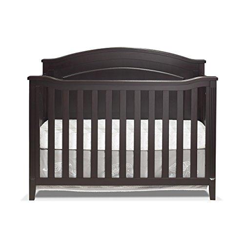 Round Convertible Crib - Sorelle Brittany Panel Crib, Espresso