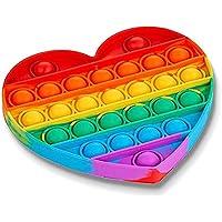 Brinquedo Colorido Pop It Coração Fidget Toy Anti Stress Sensorial Aumenta Criatividade [FIT IT]
